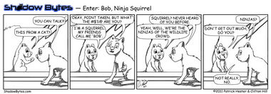 Enter: Bob, Ninja Squirrel